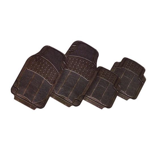 Alfombra pvc negra 4 piezas 4 kg - Alfombras de pvc ...